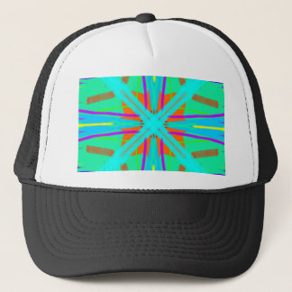 Cool Teal Aquamarine Contemporary Retro Trucker Hat