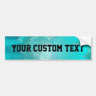Cool Teal Blue Liquid Plastic Design 1264 Bumper Sticker