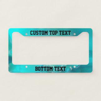 Cool Teal Blue Liquid Plastic Design 1264 License Plate Frame