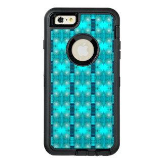 Cool Teal Blue Liquid Plastic Design 1264 OtterBox Defender iPhone Case
