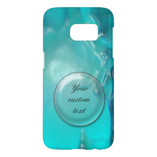 Cool Teal Blue Liquid Plastic Design 1264 Samsung Galaxy S7 Case