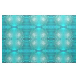 Cool Teal Blue Liquid Plastic Design Fabric