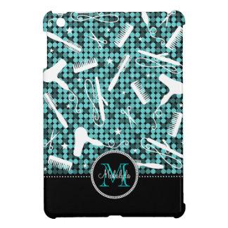 Cool Teal Glam Custom Hair & Beauty iPad Mini Case