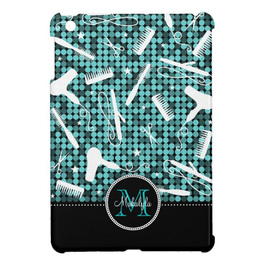 Cool Teal Glam Custom Hair & Beauty iPad Mini Case