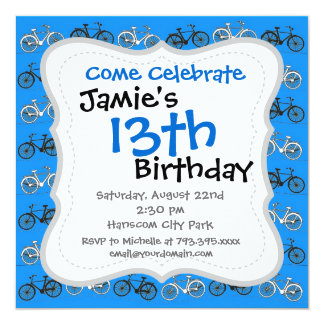 Cool Teal Turquoise Blue Vintage Bicycles Bikes Card