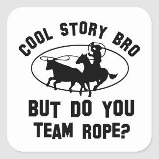 cool teamrope designs square sticker