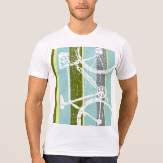 cool tee of bicycle with vertical stripes