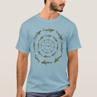 cool tee of sharks in circles
