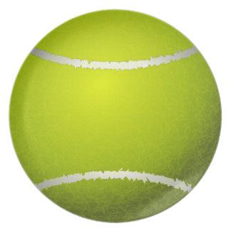 cool tennis ball plates
