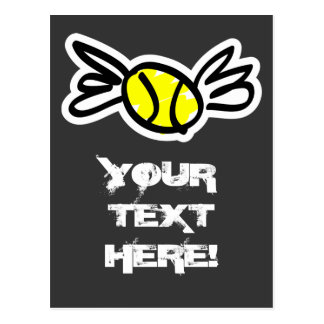 Cool tennis card invitation personlized! postcard