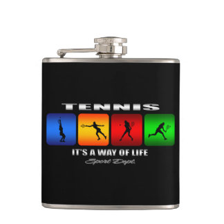 Cool Tennis It Is A Way Of Life (Female) Hip Flask