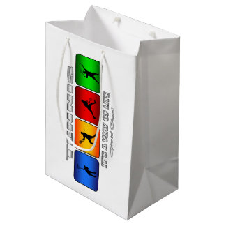 Cool Tennis It Is A Way Of Life (Male) Medium Gift Bag