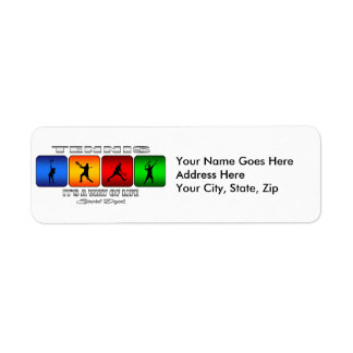 Cool Tennis It Is A Way Of Life (Male) Return Address Label