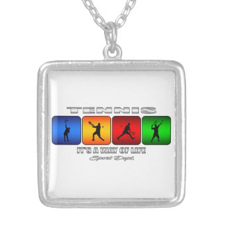 Cool Tennis It Is A Way Of Life (Male) Silver Plated Necklace