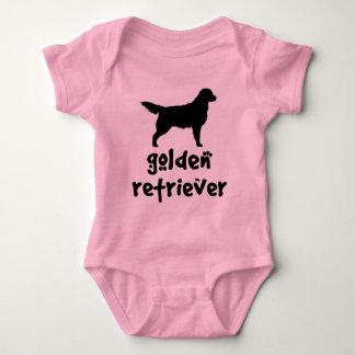 Cool Text Golden Retriever Baby Bodysuit
