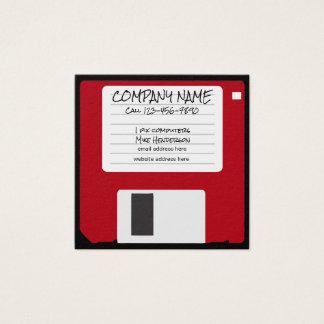Cool Throwback Computer Repair Square Business Card