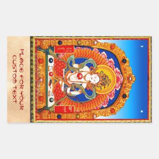 Cool tibetan thangka Dragon King Bodhisattva Sticker