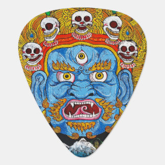 Cool tibetan thangka god mandala tattoo art guitar pick