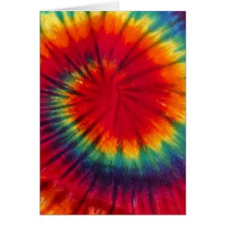 Cool Tie Dye Greeting Card