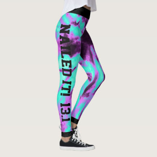 Cool Tie Dyed Nailed it Leggings