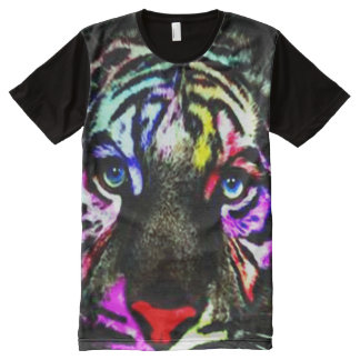 Cool Tiger Eyes All-Over-Print T-Shirt