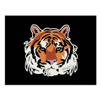 cool tiger face design postcard