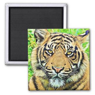 Cool Tiger Refrigerator or Locker Magnet