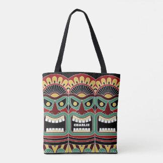 Cool Tiki Totem custom name bags