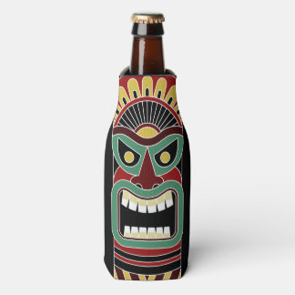 Cool Tiki Totem custom name bottle cooler