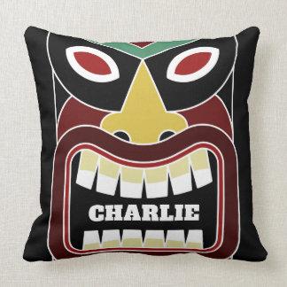 Cool Tiki Totems custom name throw pillows