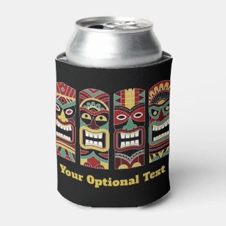 Cool Tiki Totems custom text can cooler