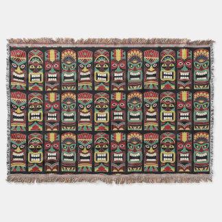Cool Tiki Totems throw blanket