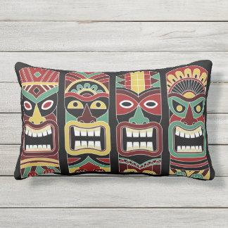 Cool Tiki Totems throw pillows