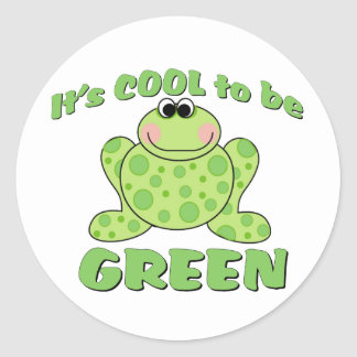 Cool to be Green FROG Classic Round Sticker