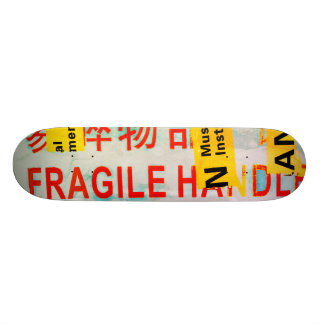 COOL Torn FRAGILE Marking w Chinese Characters Skate Boards