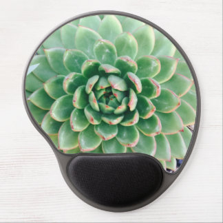 cool translucent green succulent gel mouse pad