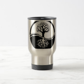 cool tree in black and white coffee mug