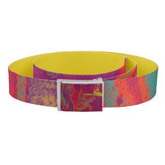 Cool trendy colorful urban graffiti design belt