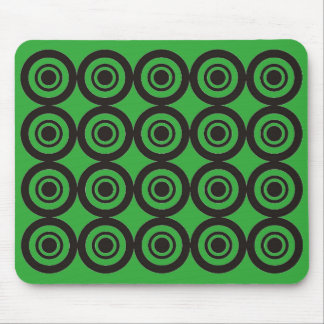 Cool trendy Geometric Pattern Mouse Pad Green