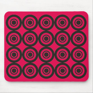Cool trendy Geometric Pattern Mouse Pad Rose Pink