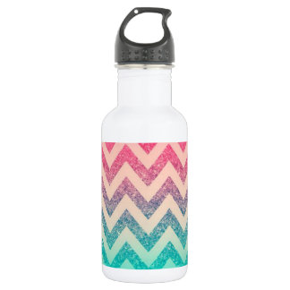 Cool Trendy  Ombre Zigzag Chevron Pattern 532 Ml Water Bottle