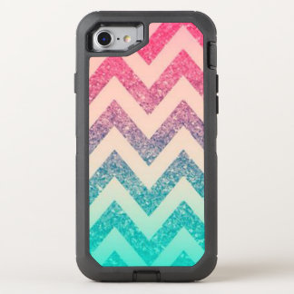 Cool Trendy  Ombre Zigzag Chevron Pattern OtterBox Defender iPhone 7 Case