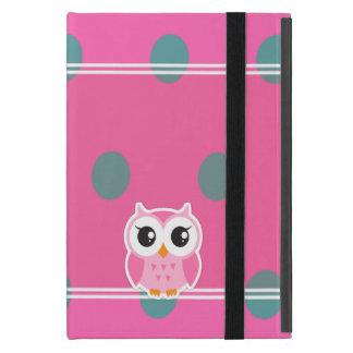 Cool Trendy Polka Dots With Cute Owl iPad Mini Case
