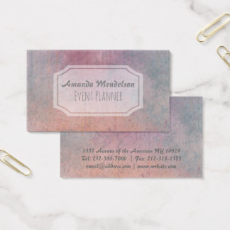 Cool trendy professional watercolor business card