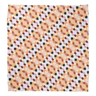 Cool Trendy Red Orange Yellow Pattern Bandana