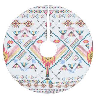 Cool trendy tribal ethnic geometric pattern brushed polyester tree skirt