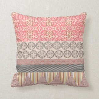 Cool trendy tribal ethnic geometric Throw Pillow