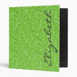 Cool trendy vibrant neon green faux glitter
