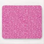 Cool trendy vibrant neon hot pink faux glitter mouse pad