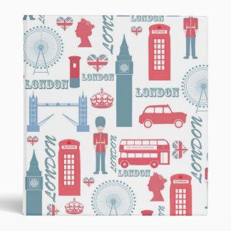 Cool trendy vintage London landmark illustrations Vinyl Binders